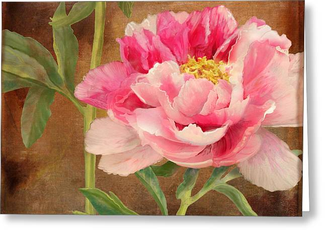 Bold Blossom Greeting Cards - Fleeting Glory - Peony 3 Greeting Card by Audrey Jeanne Roberts