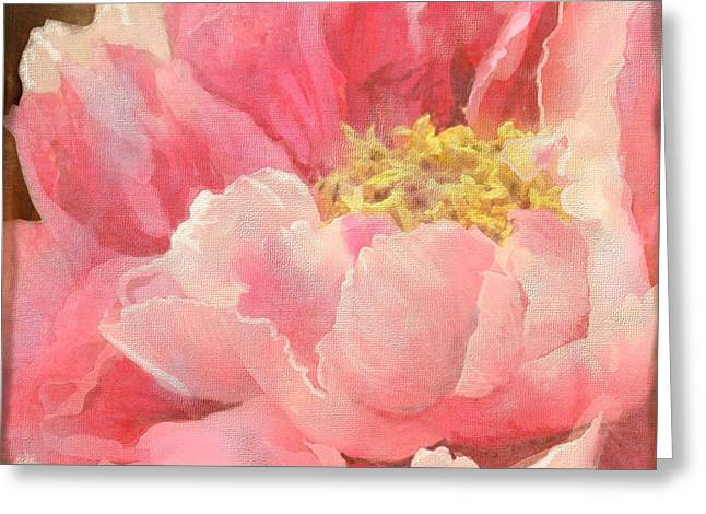 Bold Blossom Greeting Cards - Fleeting Glory - Peony Greeting Card by Audrey Jeanne Roberts