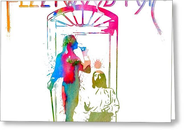 Fleetwood Mac Album Cover Watercolor Greeting Card by Dan Sproul