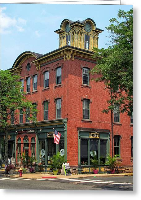 Main Street Greeting Cards - Flemington Main Street Greeting Card by Dave Mills