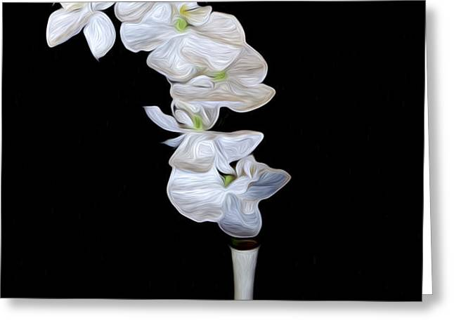 Fleur Blanche Greeting Card by Cecil Fuselier