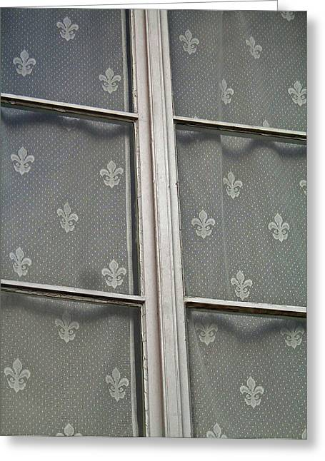 Fenster Greeting Cards - Fleur-De-Lis Greeting Card by Juergen Weiss