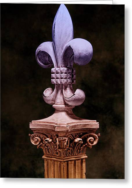 Fleur De Lis V Greeting Card by Tom Mc Nemar