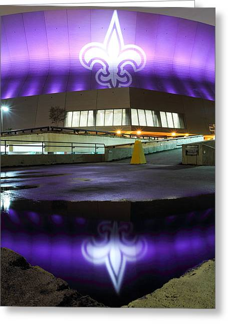 Fleur De Lis Greeting Cards - Fleur di Lis Reflected Greeting Card by Pixel Perfect by Michael Moore