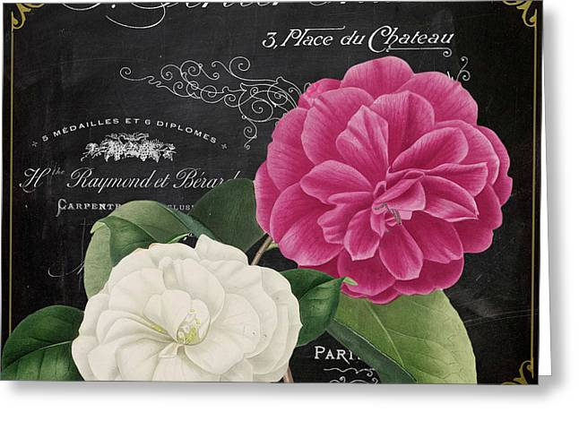 Fleur Du Jour Camellias Greeting Card by Mindy Sommers