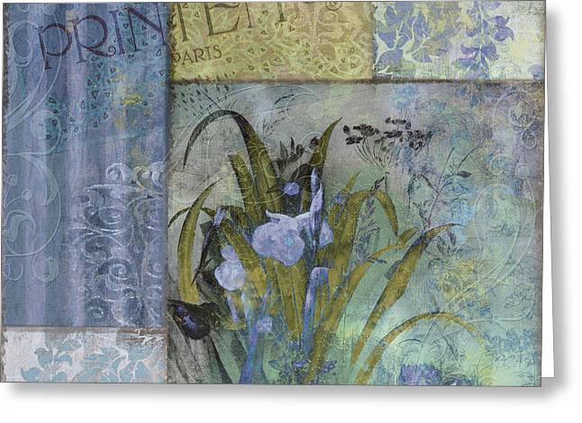 Fleurs Bleues II Greeting Card by Mindy Sommers