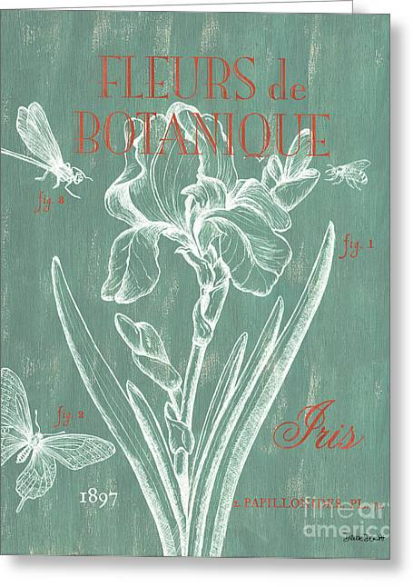Butterflies Drawings Greeting Cards - Fleurs de Botanique Greeting Card by Debbie DeWitt