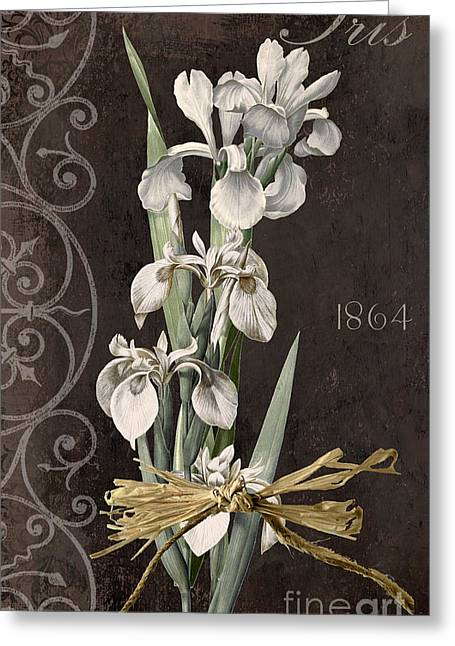 Bearded Iris Greeting Cards - Fleurs de Paris II Greeting Card by Mindy Sommers