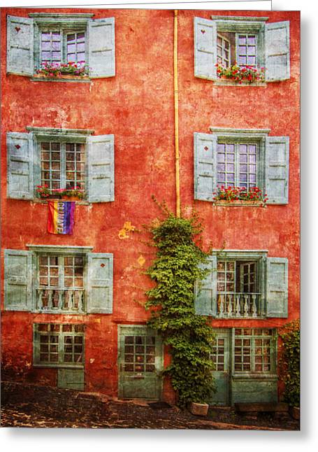 Swiss Photographs Greeting Cards - Fleurs Greeting Card by Debra and Dave Vanderlaan