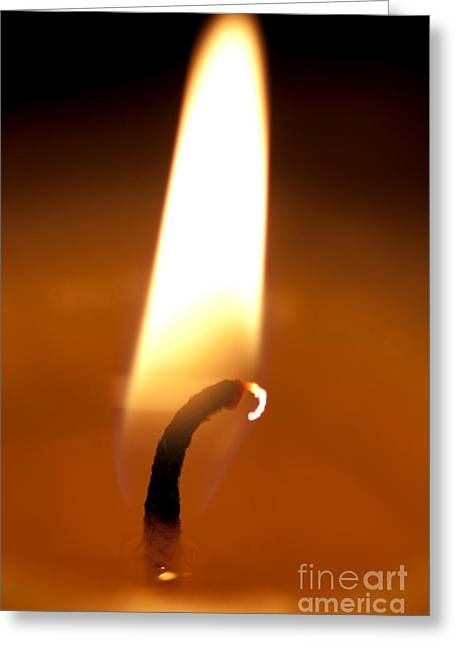 Illuminates Greeting Cards - Flickering Flame Greeting Card by Ryan Jorgensen