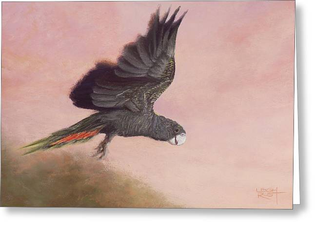 Dusk Pastels Greeting Cards - Flight Greeting Card by Leigh Rust