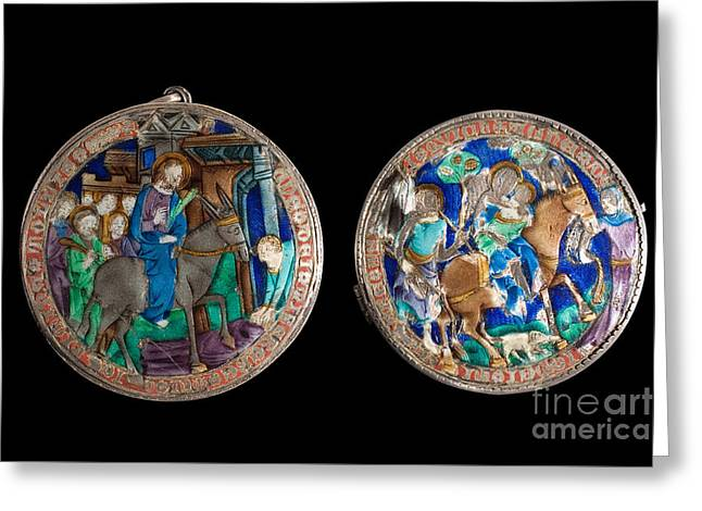 Anonymous Paintings Greeting Cards - Flight of Egypt Greeting Card by Celestial Images