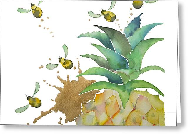 Flight Of The Bumblebee No19 Greeting Card by Roleen Senic