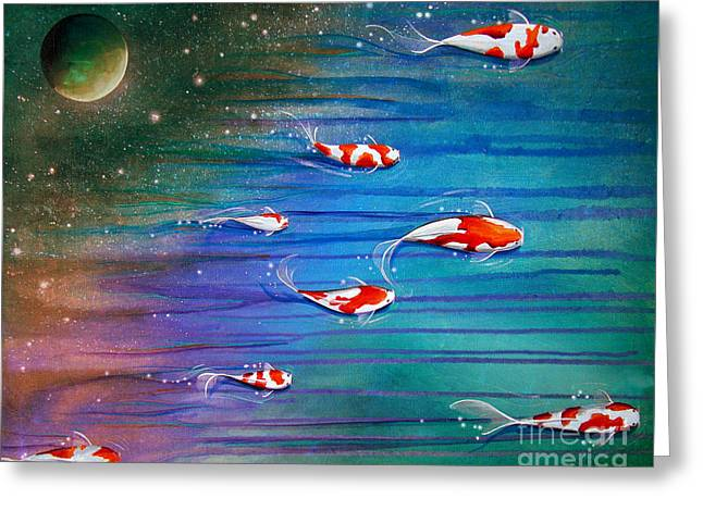 Star Fish Greeting Cards - Flight Of The Eventide Greeting Card by Cindy Thornton