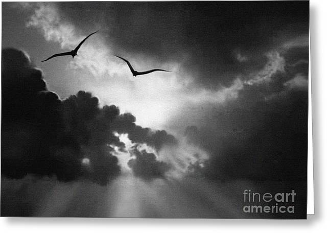 Mystical Landscape Greeting Cards - Flight To Glory Greeting Card by Robert Foster