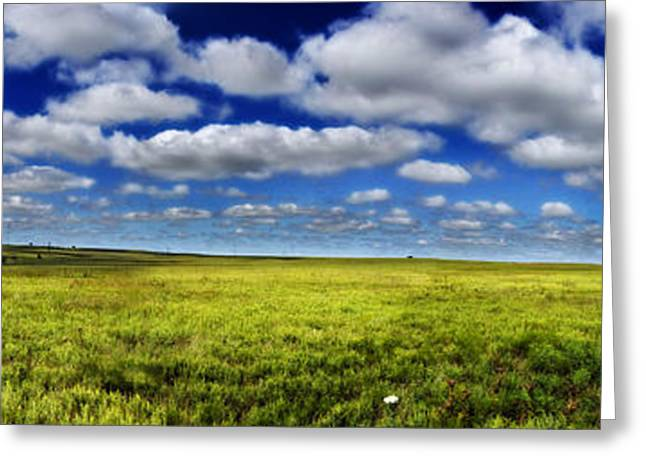 Flint Greeting Cards - Flint Hills Panorama 1 Greeting Card by Eric Benjamin