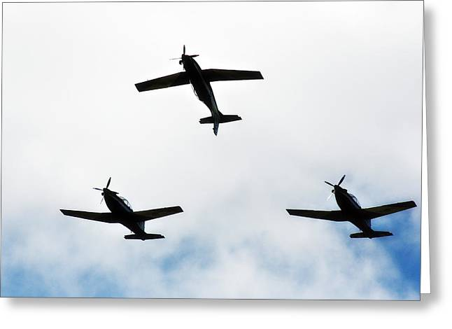 Aerobatic Greeting Cards - Flipped Greeting Card by Douglas Barnard