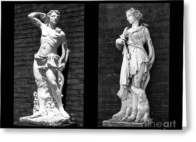 Greek Sculpture Sculptures Greeting Cards - Flirtation Greeting Card by Nathan Little