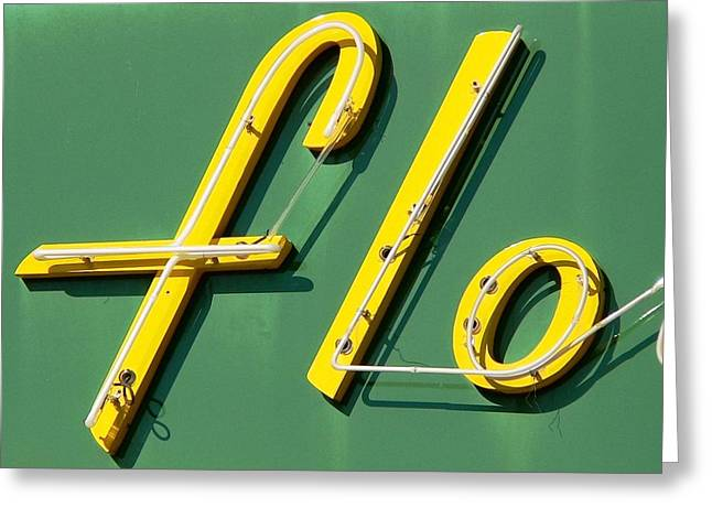 Roadside Art Greeting Cards - Flo Greeting Card by David Gianfredi