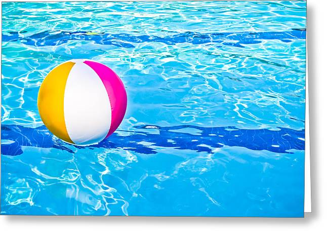 Recreational Pool Greeting Cards - Float Greeting Card by Colleen Kammerer