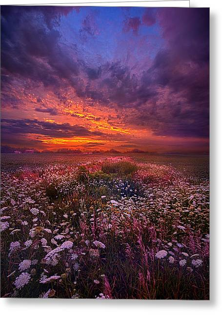 Floating Along The Edge Of Dawn Greeting Card by Phil Koch