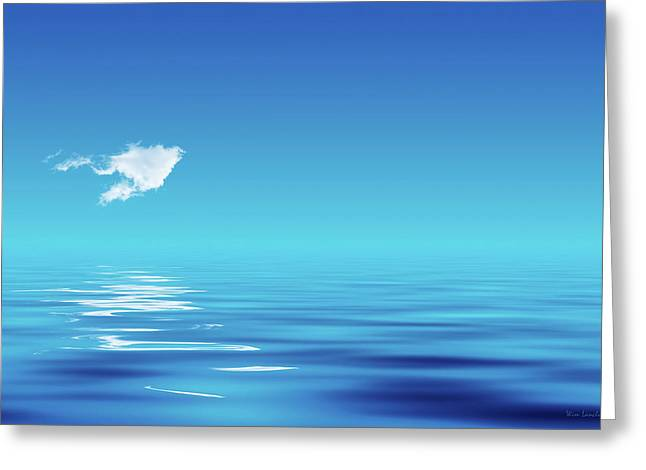 Dreamy Digital Art Greeting Cards - Floating CLoud Greeting Card by Wim Lanclus