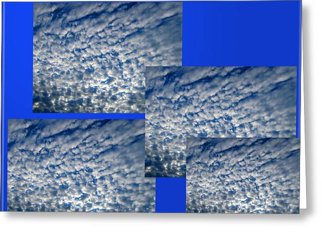 Geometric Digital Art Greeting Cards - Floating Clouds Greeting Card by Tina M Wenger