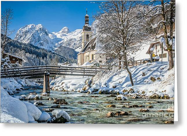 Floating Down The Winter Wonderland River Greeting Card by JR Photography