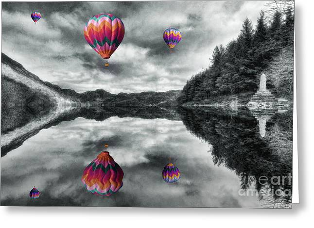 Nature Scene Digital Greeting Cards - Floating Dreams Greeting Card by Ian Mitchell