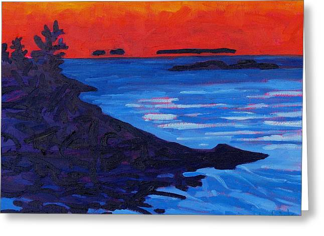 Algonquin Greeting Cards - Floating Islands of Killarney Greeting Card by Phil Chadwick