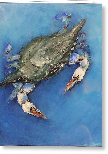 Snorkel Mixed Media Greeting Cards - Floating Greeting Card by Maria Boudreaux