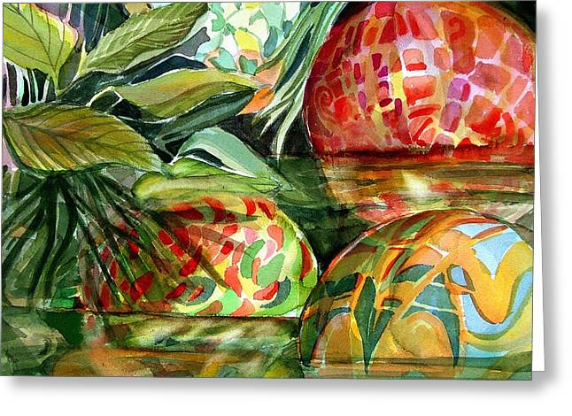 Glass Floats Greeting Cards - Floating Greeting Card by Mindy Newman