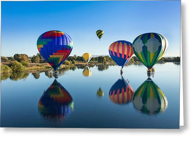 Floating On Air And Water Greeting Card by Mary Jo Allen