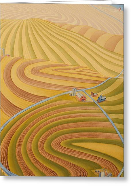 Floating Over Fields II Greeting Card by Scott Kirby