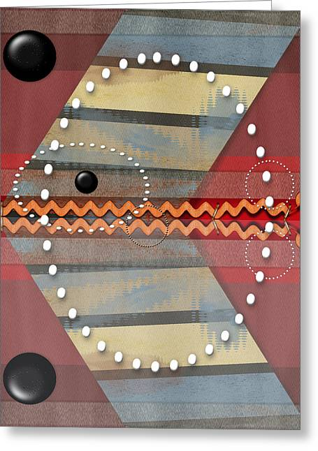 Geometric Art Greeting Cards - Floating Greeting Card by Tina M Wenger