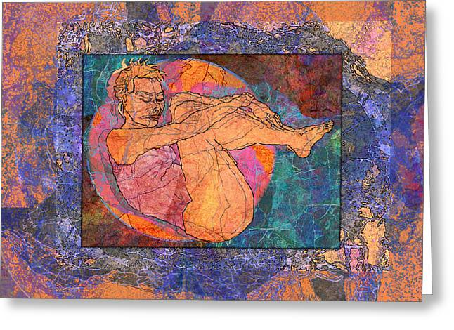 Floating Girl Greeting Cards - Floating Woman Greeting Card by Mary Ogle