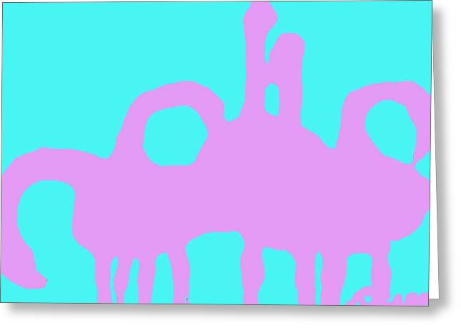 Flock Of Flamingoes Greeting Card by Ocean