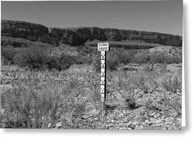 Floods Greeting Cards - Flood Gauge Greeting Card by Mountain Dreams