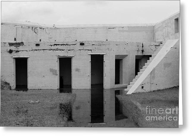 Civil Greeting Cards - Flooded Fort Greeting Card by Robert Wilder Jr