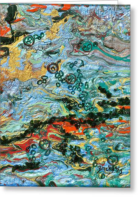 Flooded Landscape Greeting Card by Donna Blackhall