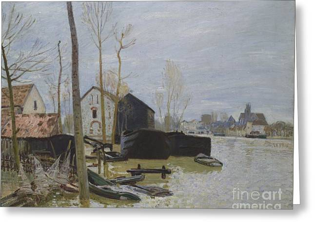 Flooding At Moret Greeting Card by MotionAge Designs
