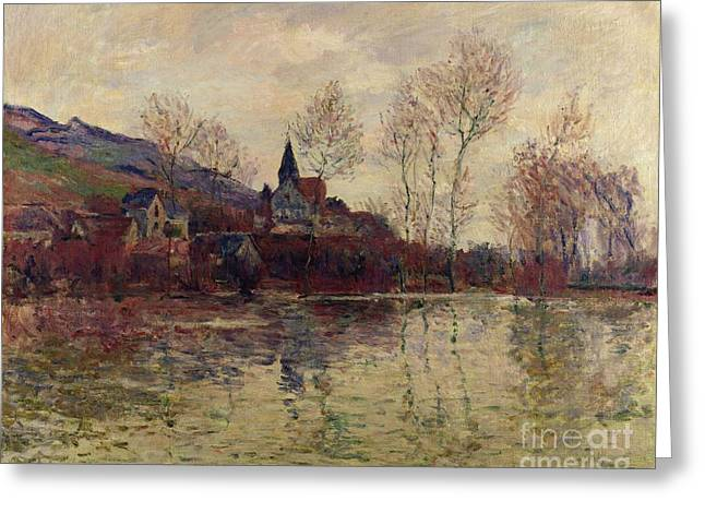 Floods Greeting Cards - Floods at Giverny Greeting Card by Claude Monet