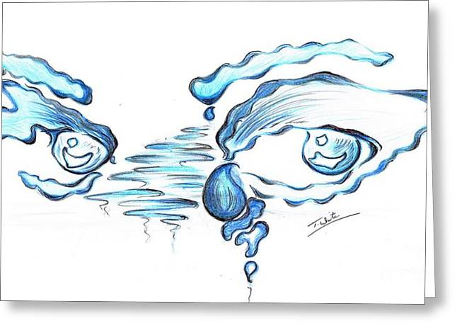 Floods- Of Tears Greeting Card by Teresa White