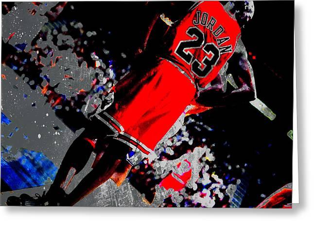 Floor General Michael Jordan Greeting Card by Brian Reaves