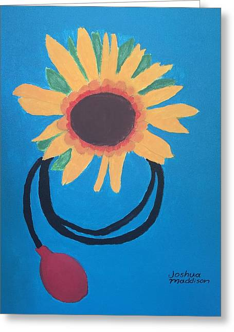 Yellow Sunflower Greeting Cards - Flora Greeting Card by Joshua Maddison