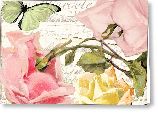 Vintage Rose Greeting Cards - Florabella I Greeting Card by Mindy Sommers