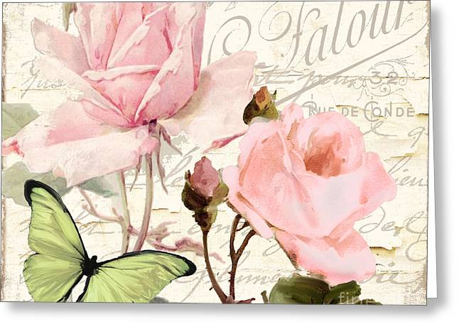Beach Cottage Style Greeting Cards - Florabella III Greeting Card by Mindy Sommers