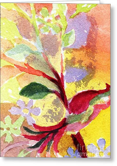 Sem Greeting Cards - Floral Abstract Greeting Card by Joe Hagarty
