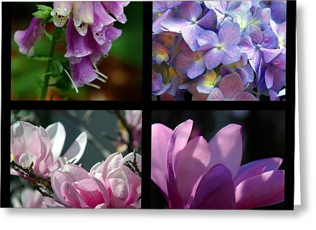 Foxglove Flowers Photographs Greeting Cards - Floral Beauties Greeting Card by Susanne Van Hulst