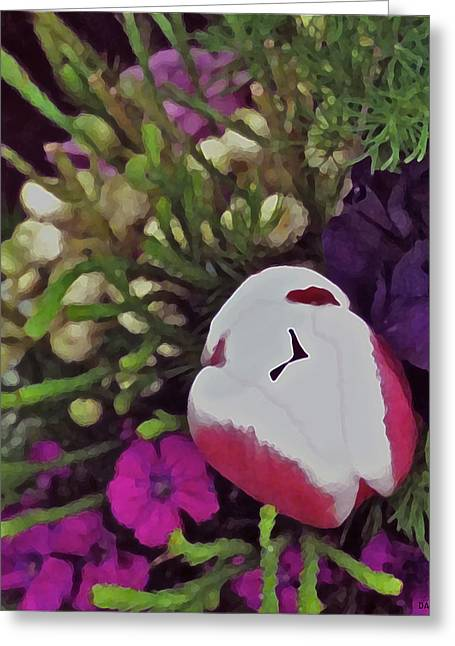 Lively Floral Design Greeting Cards - Floral Bouquet 2 Greeting Card by Debra     Vatalaro